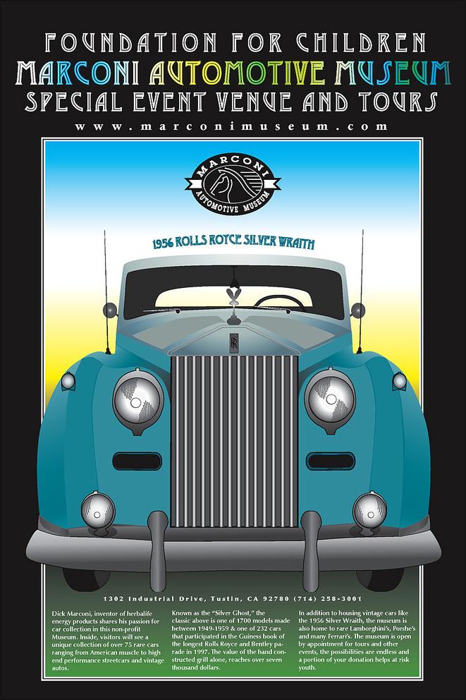 Graziela Camacho, Graphic Designer, Marconi Automotive Poster & Illustration