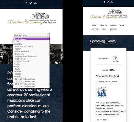 pco responsive screenshots