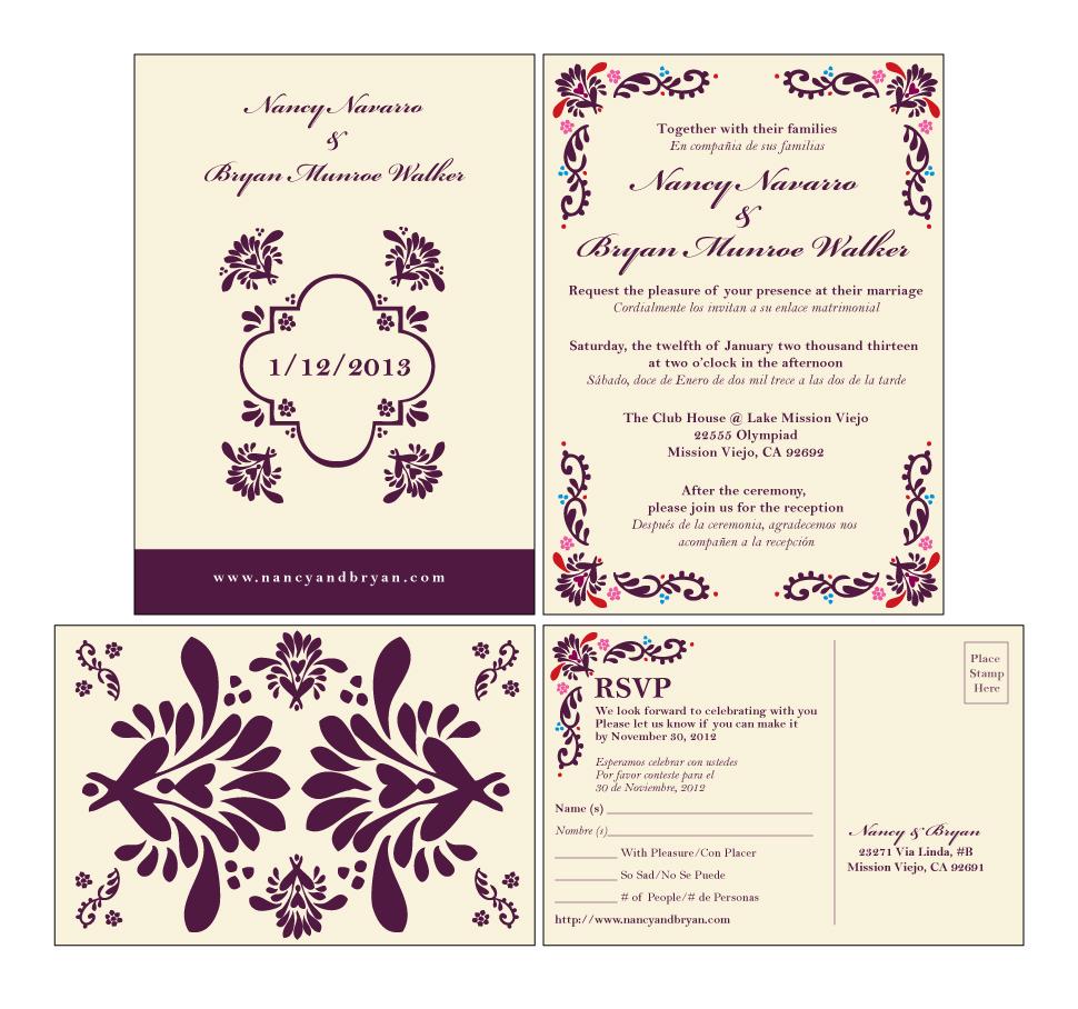 Navarro Wedding Invitation
