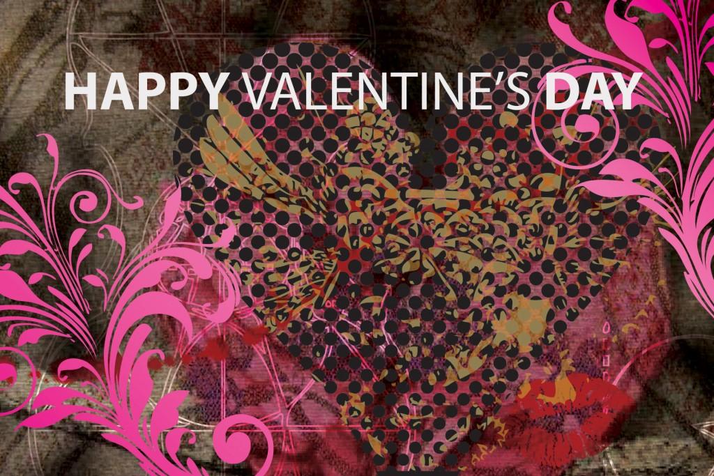 Happy Valentines Day Postcard, Graziela Camacho, Graphic Designer