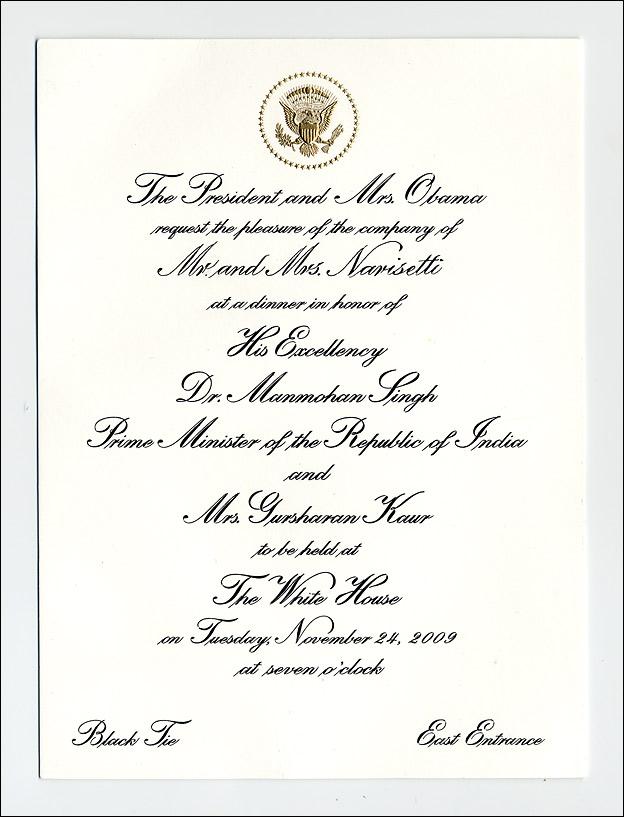 White House Invitation