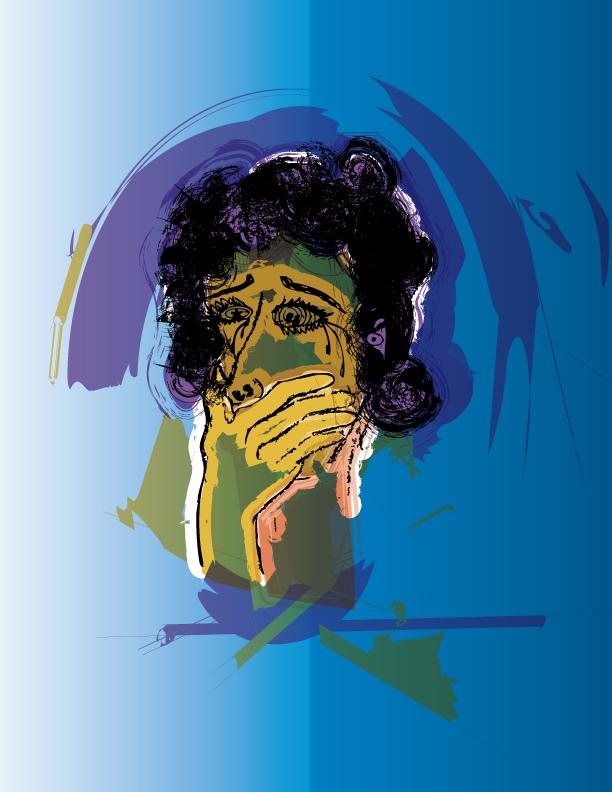 911 Woman Illustration, Graziela Camacho, Graphic Designer