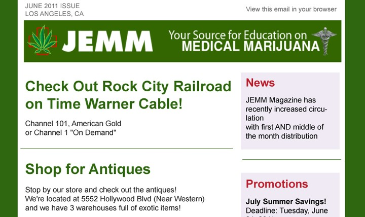 JEMM eNewsletter thumb