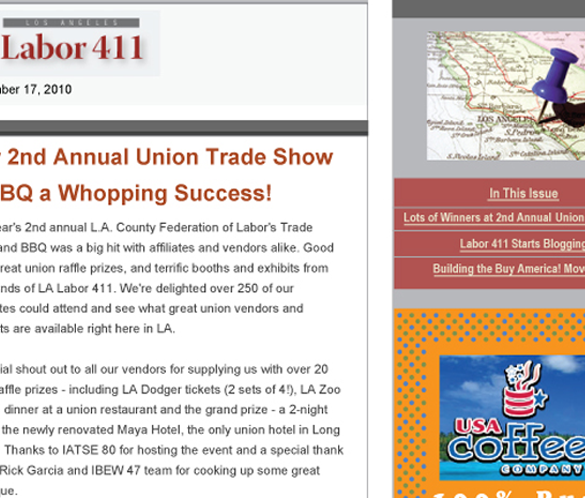 Labor411 Constant Contact eNewsletter
