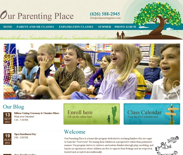 Our Parenting Place Home Page thumb