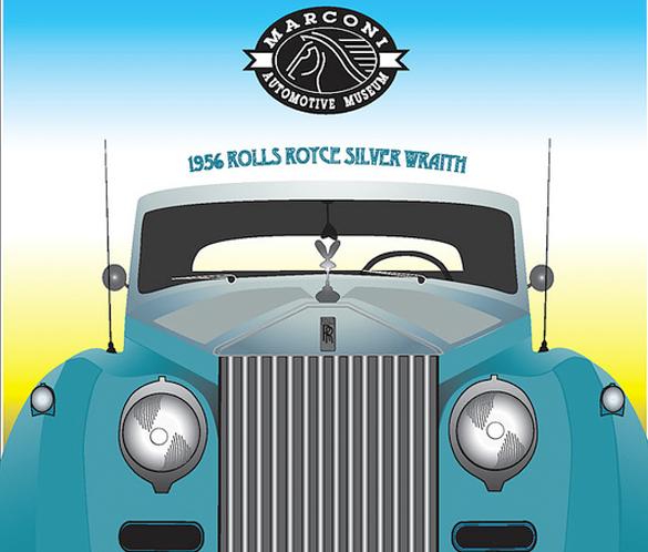 Marconi Automotive Museum Poster, Graziela Camacho, Graphic Designer