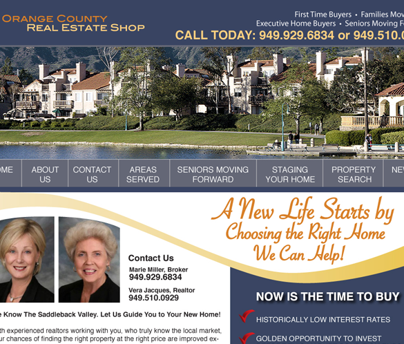 Orange County Real Estate Shop Home Page thumb