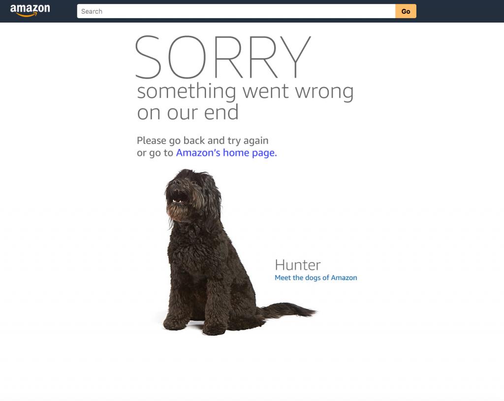 Amazon Error 404 page